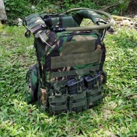 Bodyvets Loreng TNI / Rompi Anti Peluru Loreng Malvinas Balistik