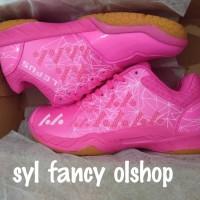 sepatu badminton lefus bulutangkis pink off yonex aerus 2 but Lefus