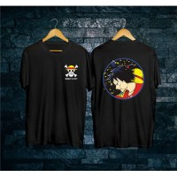 T-shirt One Piece Luffy Bulat / Kaos Pria / Kaos Wanita
