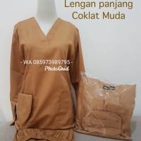 Baju Ok/Lengan Panjang/Coklat Muda/Merk Dua Saudara