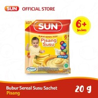 SUN BUBUR SEREAL SUSU PISANG SACHET 20 GR X 10 PCS/RCG
