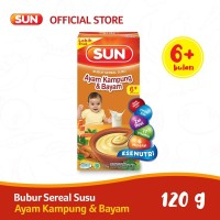 SUN BUBUR SEREAL SUSU AYAM KAMPUNG BAYAM 120 GR BOX X 1 PC