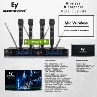 Mic Wireless Electro Voice EV 4X / Mic EV4X (4 Handle dan Antena)