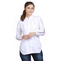 atasan wanita warna putih DIK.GARF - baju kemeja blouse kerja cewek