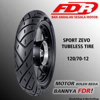 Ban FDR Sport Zevo 120/70-12 untuk motor ring 12 yamaha honda suzuki