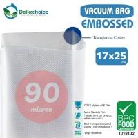 PLASTIK VACUUM SEALER - VACUM BAG EMBOSSED - DELKOCHOICE - 17x25 CM