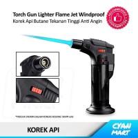 Korek Api Gas Torch Gun Flame Jet Lighter Butane Windproof Anti Angin