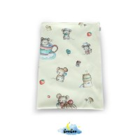 Yellow Cooking Mouse Toddler Blanket