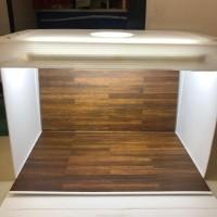 Paket Studio mini dan alasfoto ukuran A2 (45x32cm) motif kotak kayu