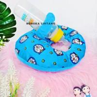 Bottle Holder Bantal Penyangga Dot Susu Bayi Warna Biru