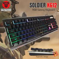 FANTECH K612 RGB Soldier Gaming Keyboard 19Keys Anti Ghost Papan Ketik