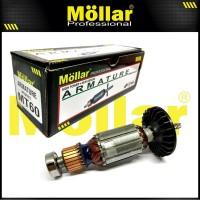 MOLLAR MT60 Armature Angker Rotor Mesin Bor Listrik MT 60