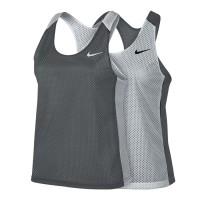 Kaos Gym Wanita tanktop olahraga reversible grey