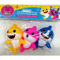 Mainan Pink Fong Hiu Karet 3 pcs   Mainan Mandi Bayi Shark Lucu