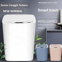 Tempat Sampah Otomatis Smart Sensor Otomatis dan Sentuh New Normal - Merah Muda