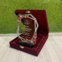 Plakat Trophy Piala Plakat Wisuda Plakat Akrilik Hadiah Wisuda (BOX)