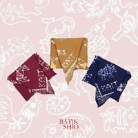 Furoshiki (Kain Pembungkus/Bandana/Scarf) Batik Shio