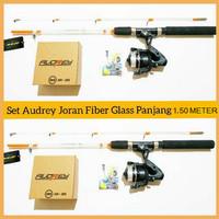 SET PANCING FIBER GLASS TRANSPARAN PANJANG 150 & REEL SPINNING 6 BB