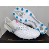 Sepatu Bola Mizuno II Neo Morelia Leather White Chrome FG