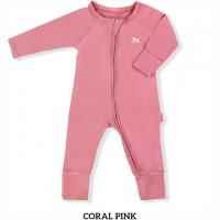 Little Palmerhaus Baby Sleepsuit Baju Tidur Bayi Coral Pink
