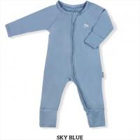 Little Palmerhaus Baby Sleepsuit Baju Tidur Bayi Sky Blue