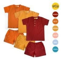 KAOS ANAK setelan baju rumah HANLEY warna polos 1-10 tahun UNISEX