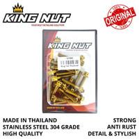 Set Baut Kalter Blok Mesin Honda Sonic 150 Probolt Stainless King Nut