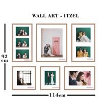 Neoframe - 6pcs Bingkai Foto / Pigura Wall Art seri ITZEL