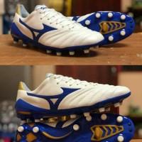 Sepatu Bola Mizuno Neo Morelia II Whites Blue FG