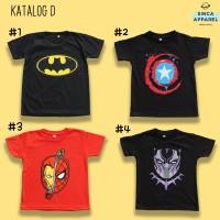 Baju Kaos Anak Cowok Laki - Laki Lengan Pendek Premium - Katalog D