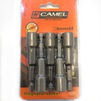 Kunci Mata Sok Baut Roofing MAGNETIC Bor 8 x 65 Camel Bagus Kuat