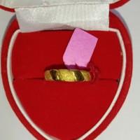 cincin emas asli model keong 24k