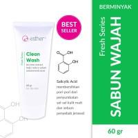 Esther Clean Wash 60g - Sabun wajah kulit berminyak/berjerawat
