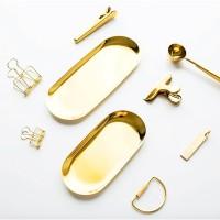 Kemas | piring emas alas gold tray plates properti foto mewah premium