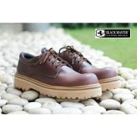 Sepatu Pria boots pendek kulit asli ori handmade sporty gagah aman
