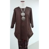 Baju Kurung Modern Bahan Tenun Bali All size