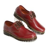 Sepatu Boots Wanita Low Boot 3 Hole Kulit Asli Like Docmart 7010 Maron