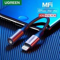 Ugreen MFI Lightning To Jack Audio Aux 3.5mm Iphone Headset Adapter