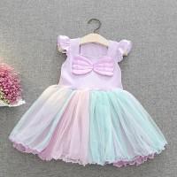 Kostum Putri Duyung Anak Baju Pesta Little Mermaid Ungu Gaun Pesta Ana