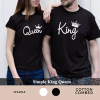 kaos pria wanita couple simple terbaru baju copel Simple king Queen