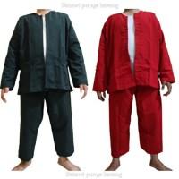 baju PANGSI khas Betawi - Merah, M