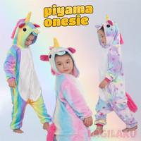 Baju Tidur Anak Piyama Onesie Cosplay Kostum Unicorn Kuda Poni Olaf