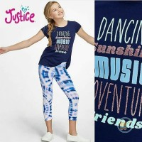 TSHIRT JUSTICE DANCING SUNSHINE MUSIC BAJU BRANDED ANAK CEWE WANITA OK