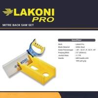 LAKONI PRO Gergaji Pigura Manual - Manual Mitre Back Saw Box
