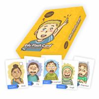EDUFLASH CARD Seri Ekspresi kartu mainan anak uno kartun emosi emotion