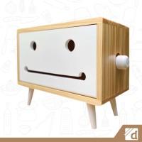 Kotak Tisu Macaron Joy, Wadah Tisu Unik, Kotak Tissue Roll Besar