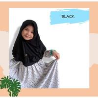 Kerudung Hijab Jilbab anak Aqila By Aisy Hijab Black