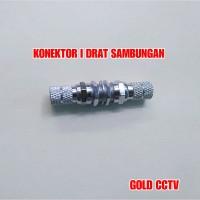 Jack Sambungan I Drat Konektor Penyambung Kabel Video Coaxial
