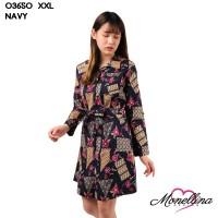 Monellina 03650 Baju Tunik Batik XXL Jumbo Murah Wanita Muslim Kekinia