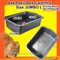 BAK PASIR KUCING BESAR SIZE L BOX PASIR KUCING LITTER BOX BASKOM PUP